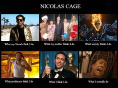 Nicolas Cage Meme | Best Of What People Think I Do/What I Really Do | SMOSH