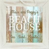 Personalized Grandparent Sign for Beach House with FREE Personalization by The Grandparent Gift Co. Grandparent's Day is 9/13/15!