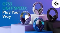 G733 LIGHTSPEED Wireless Gaming Headset - Play Your Way Best Gaming Headset, Wireless Headphones, Bluetooth, Zoom Call, Gaming Accessories, Logitech, Digital Trends, New Technology, Just In Case