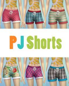 JS Boutique: Pijamas Shorts - Sims 4 Downloads
