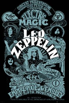 LED Zeppelin Electric Magic Wembley Concert Music Poster Print for sale online Rock Posters, Band Posters, Rock And Roll, Led Zeppelin Poster, Led Zeppelin Art, Led Zeppelin Wallpaper, Concert Rock, Vintage Concert Posters, Poster Vintage