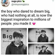 Im so proud for Yoongi. He finally reached his dreams. Keep up the Good Works Min Yoongi. K Pop, Seokjin, Seungri, Bigbang, Astro Jinjin, Bts Love, Rap, Band Workout, Kookie Bts