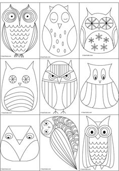 Great owl templates. (im not a template sort of gal, but i cant resist an owl!)
