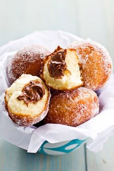 Baked Nutella Doughnuts with Nutella Glaze Cooking tips Nutella cupcakes. nutella doughnuts- making these sunday! Sips and Spoonful. Just Desserts, Delicious Desserts, Yummy Food, Dessert Healthy, Nutella Donuts, Nutella Chocolate, Dessert Chocolate, Doughnuts, Yummy Treats