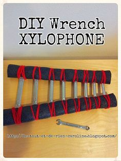 DIY wrench xylophone. Combines music and maths! Fun project for preschoolers :)