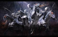 THE FOUR HORSEMEN by Yayashin.deviantart.com on @deviantART