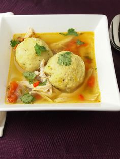 Saffron Matzo Ball Soup With Sofrito Recipe - JoyOfKosher.com