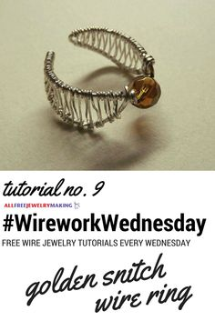 150 points to everyone who makes this golden snitch wire ring! #WireworkWednesday