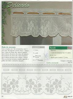 graficos de cortinas de croche com bando - Pesquisa Google
