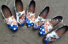Cheer Team Spirit Painted TOMS custom team colors and mascot name toms included