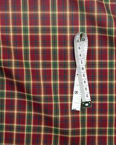 Cotton Tartan Fabric   Red & Green   Truro Fabrics