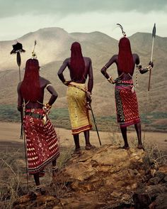 The Samburu people live in northern Kenya, where the foothills of Mount Kenya merge into the northern desert. As cattle-herding Nilotes, they reached Kenya some five hundred years ago, moving southwards along the plains of the Rift Valley in a rapid, all-conquering advance. #Samburu #Kenya