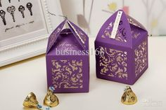 Gold Hollow Out Wedding Favor Box Candy Box Online   #4  Ideas And Design