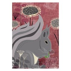Rocket 68  Squirrel A2 Unframed Print: Ever wanted an adorable Squirrel friend? Well now you can, with this print by Rocket 68!