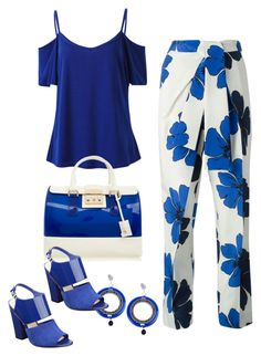 """""""Azules"""" by carolortiz on Polyvore featuring Chloé, Jozica, Furla and Nine West"""