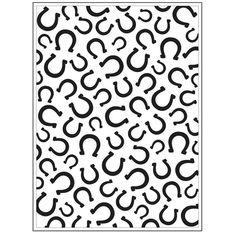 Darice® Embossing Folder - Horseshoe Background - 4.5 x 5.75, scrapbooking, greeting cards, card making, invitations 30008382 #DariceEmbossing #HandmadeCards #EmbossingFolder #scrapbook #embossing #emboss #ScrapbookSupplies #scrapbooking #30008382 #CardMaking