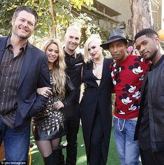 NBC+the+Voice+2014+pharrell+williams+&+gwen+stefani | Gwen Stefani and Pharrell Williams join existing coaches on The Voice ...