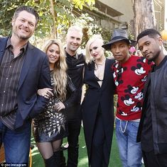 NBC+the+Voice+2014+pharrell+williams+&+gwen+stefani | Gwen Stefani and Pharrell Williams join existing coaches on The Voice ...