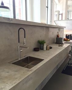Want this for my kitchen Wer trägt mir das in den 5.Stock? #kitchengoals #Küche #interior #interiordesign #kitchendesign #interiors #interior4all #design #details #style #beton #decor #decoration #loft #architecture #interiorstyling #interiores #unterwegs #berlin #interior123 #interieur #instadaily #instainterior #instagood