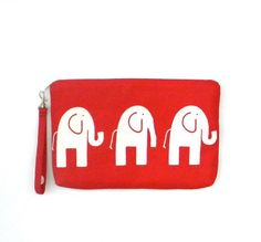 Red Elephant pouch