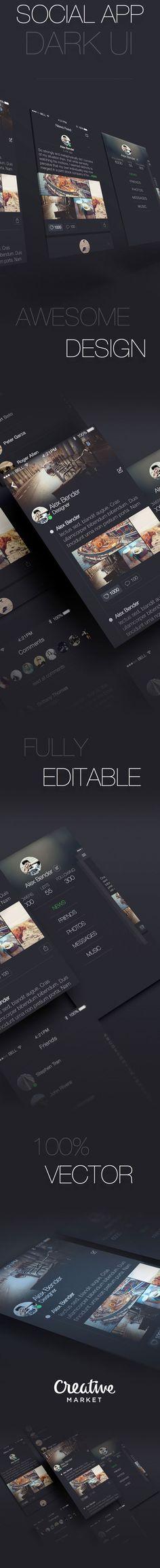Daily Mobile UI Design Inspiration #348 / dark design / dark graphic design ideas