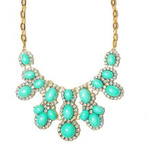 Mint Crystal Cabochon Cluster Statement Bib Necklace ❤ liked on Polyvore featuring jewelry, necklaces, accessories, bib jewelry, crystal bib statement necklace, statement necklace, cluster necklace and mint green statement necklace