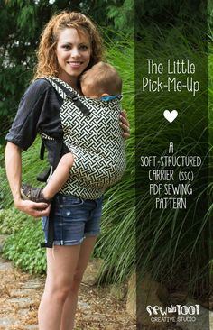 """This pattern includes a tie-off hood with functional reach straps, has multiple straps adjustment points, includes 3 sizes (infant, tweeny tot, and toddler), leg padding, and when worn properly, positions baby into an ergonomically correct seated """"M"""" position   DIY Baby Carrier Pattern SSC Soft Structured Carrier PDF by SewToot, $12.00"""
