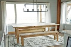 Beginner Farm Table (2 Tools + $50 Lumber) - DIY Projects Video and plans