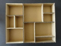 diy cardboard boxes shelves / shadowboxes - Google Search