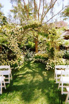 Perfect Garden for a Perfect Wedding / decoración para la ceremonia de la boda