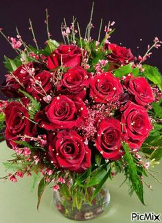 Basket Flower Arrangements, Good Night Flowers, Beautiful Rose Flowers, Flower Pictures, Happy Mothers Day, Floral Design, Floral Wreath, Greeting Cards, Wallpaper