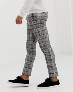 Discover the range of men's chinos and men's pants with ASOS. Shop from hundreds of different styles from skinny chinos to sweatpants. Shop now at ASOS. Mens Plaid Pants, Plaid Jeans, African Men Fashion, Mens Fashion, Checkered Trousers, Funky Pants, Skinny Fit Suits, Corporate Outfits, Pantalon Cargo