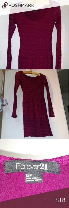 Forever 21 Bodycon mini Maroon mini with maroon lace. Forever 21 Dresses