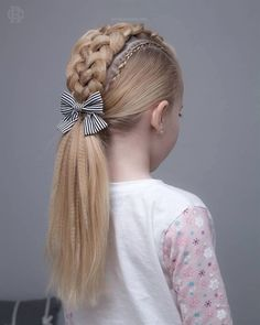 160 Braids Hairstyle Ideas for Little Kids 2019 - Page 129 of 160 - Soflyme Easy Braid Styles, Short Hair Styles Easy, Short Hair Updo, Ponytail Styles, Long Hair, Kids Braided Hairstyles, Weave Hairstyles, Girl Hairstyles, School Hairstyles