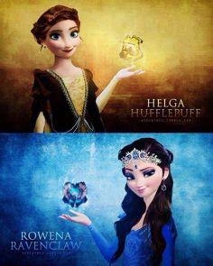 La reine des neiges version HP... Et Hans est Slytherin!