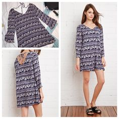 Floral Shift Dress It has wide sleeves. Short length.  Check out the free necklace listing! Forever 21 Dresses