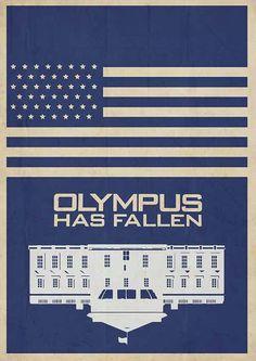 Olympus Has Fallen - minimal movie poster