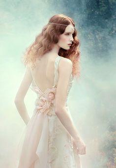 """Fantasy"" |   Photographer: Andrey Yakovlev |  Art-director: Lili Aleeva |  Models: Lera Loginova, Anastasia Sutupova |  Collection:  Alena Goretskaya"
