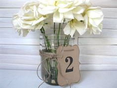 table numbers/centerpieces