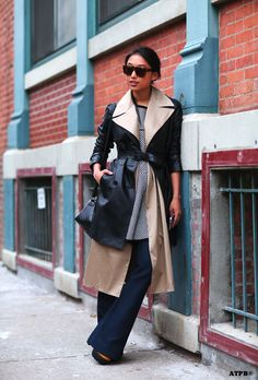 Layered coats. Margaret Zhang via All the pretty birds » NYFW DAY 1