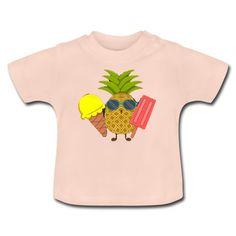 Geschenke Shop | Ananas - Baby T-Shirt Baby T Shirts, Shops, Baby Kind, Kind Mode, Babys, Onesies, Sweatshirts, Sweaters, Kids