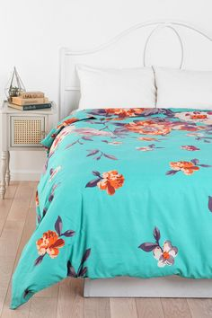 Plum & Bow Falling Garden Duvet Cover Online Only Available in Twin XL