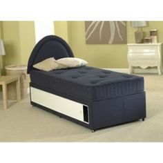 - Kiddies Blue Cotton Divan Bed consists of a robust, hard-wearing base along with a beautifully plush matching mattress. The base of this divan is supplied with a choice of Two Drawers or Four Drawers depending on your storage needs. Divan Beds, Buy Bed, Bed Frame, Bedding Sets, Mattress, Drawers, Plush, Base, Storage