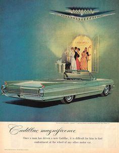 Original Vintage Print Ad - 1962 Cadillac Convertible - Beautiful vintage art | eBay