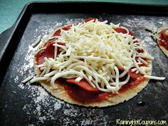 Tortilla Pizza Oven Ready Quick Tortilla Pizza Recipe ~ The Perfect Snack or Meal for One