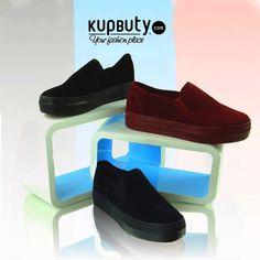 Najgorętszy trend tego sezonu – zamszowe trampki slip-on, w aksamitnym wydaniu. Materiał niesamowicie podkreśla kolor i wydobywa jego głębię. Trampki idealnie przylegają do stopy, są smukłe i wyglądają bardzo zgrabnie. Nie można przejść obok nich obojętnie! #shoes #slip-on #girls #online #follow #cool #black #black # blue