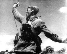 An assault by a Soviet partisan unit.