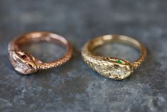 14kt gold and diamond snake ring – Luna Skye