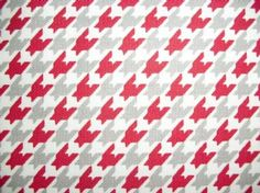 Alabama Houndstooth Red and Gray Red And Grey, Gray, Houndstooth, Alabama, Rugs, Detail, Fabric, Home Decor, Farmhouse Rugs