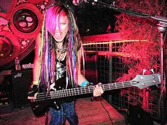 "Bassist Rena Lovelis of ""Cherri Bomb""-- If I was in a band I would SO have this hair."